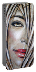 Portable Battery Charger featuring the painting Dream In Amber 120809 by Selena Boron