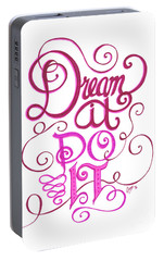 Portable Battery Charger featuring the drawing Dream It Do It by Cindy Garber Iverson