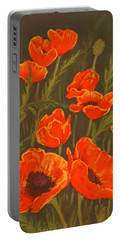 Portable Battery Charger featuring the painting Dream Of Poppies by Anastasiya Malakhova