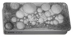 Portable Battery Charger featuring the drawing Dream Spirits by Charles Bates