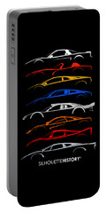Dreamcars Of 90s Silhouettehistory Portable Battery Charger
