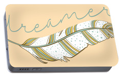 Portable Battery Charger featuring the digital art Dreamer by Heather Applegate