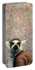 Ring-tailed Lemur Paintings Portable Battery Chargers