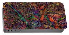 Portable Battery Charger featuring the digital art Dreamers by Robert Orinski