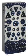 Portable Battery Charger featuring the painting Dreamflake by Artists With Autism Inc