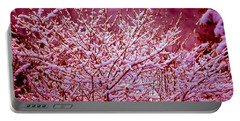 Portable Battery Charger featuring the photograph Dreaming In Red - Winter Wonderland by Susanne Van Hulst