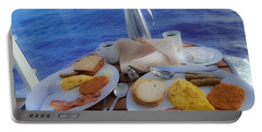 Portable Battery Charger featuring the photograph Dreaming Of Breakfast At Sea by DigiArt Diaries by Vicky B Fuller