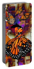 Portable Battery Charger featuring the mixed media Dreaming Of Flying High by Marvin Blaine