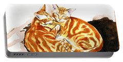 Dreaming Of Ginger - Orange Tabby Cat Painting Portable Battery Charger