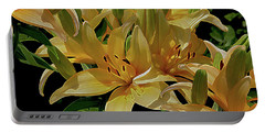 Dreaming Of Lilies Portable Battery Charger by Lynda Lehmann