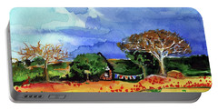 Portable Battery Charger featuring the painting Dreaming Of Malawi by Dora Hathazi Mendes