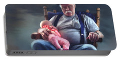 Dreaming With Grandpa Portable Battery Charger by Susan Kinney
