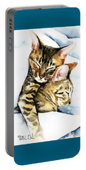 Dreamland - Bengal And Savannah Cat Painting Portable Battery Charger