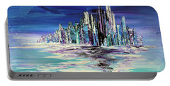 Portable Battery Charger featuring the painting Dreamland Isle by Tatiana Iliina