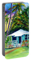 Portable Battery Charger featuring the painting Dreams Of Kauai 2 by Marionette Taboniar