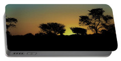 Dreams Of Namibian Sunsets Portable Battery Charger by Ernie Echols