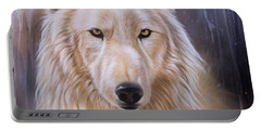 Dreamscape Wolf IIi Portable Battery Charger by Sandi Baker
