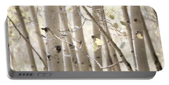 Dreamy Aspen Woodland Portable Battery Charger by Andrea Hazel Ihlefeld