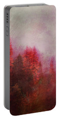 Portable Battery Charger featuring the digital art Dreamy Autumn Forest by Klara Acel