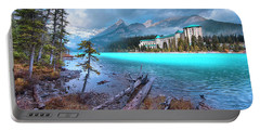 Portable Battery Charger featuring the photograph Dreamy Chateau Lake Louise by John Poon