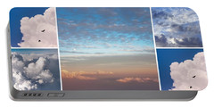 Portable Battery Charger featuring the photograph Dreamy Clouds Collage by Jenny Rainbow