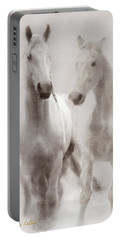 Portable Battery Charger featuring the photograph Dreamy Horses by Michele A Loftus