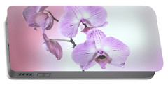 Portable Battery Charger featuring the photograph Dreamy Pink Orchid by Linda Phelps