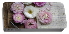 Portable Battery Charger featuring the photograph Dreamy Ranunculus  by Kim Hojnacki