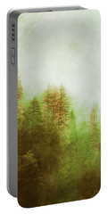 Portable Battery Charger featuring the digital art Dreamy Summer Forest by Klara Acel