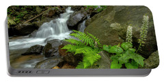Portable Battery Charger featuring the photograph Dreamy Waterfall Cascades by Debra and Dave Vanderlaan