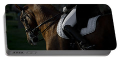 Portable Battery Charger featuring the photograph Dressage D5284 by Wes and Dotty Weber
