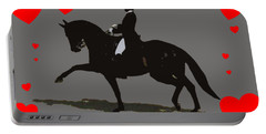 Dressage With Hearts Portable Battery Charger by Patricia Barmatz