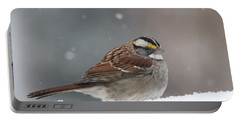 Dressed For Snow Portable Battery Charger by Living Color Photography Lorraine Lynch