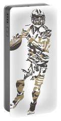 Drew Brees New Orleans Saints Pixel Art T Shirt 1 Portable Battery Charger