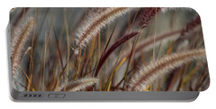 Dried Desert Grass Plumes In Honey Brown Portable Battery Charger