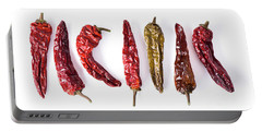 Dried Peppers Lined Up Portable Battery Charger