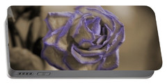 Dried Rose In Sienna And Ultra Violet Portable Battery Charger