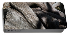 Driftwood Abstract Portable Battery Charger by Kenneth Albin