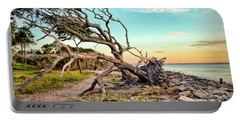Driftwood Beach Morning 2 Portable Battery Charger
