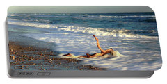 Driftwood In The Surf Portable Battery Charger by Roupen  Baker