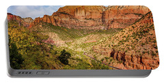 Portable Battery Charger featuring the photograph Driving Into Zion by John Hight