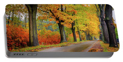 Driving On The Autumn Roads Portable Battery Charger