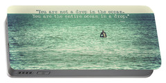 Drop In The Ocean Surfer Vintage Portable Battery Charger by Terry DeLuco