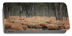 Droving Sheep  At Albert Australia Portable Battery Charger