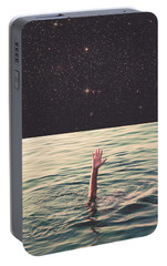 Drowned In Space Portable Battery Charger by Fran Rodriguez