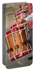 Drums Of The Revolution Portable Battery Charger by Christopher Holmes