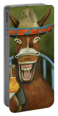 Drunken Dumb Ass Portable Battery Charger by Leah Saulnier The Painting Maniac