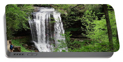 Dry Falls In The Spring Portable Battery Charger by Cathy Harper