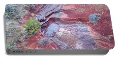 Dry Stream Canyon Areial View Portable Battery Charger