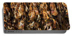 Drying Fish Heads - Iceland Portable Battery Charger